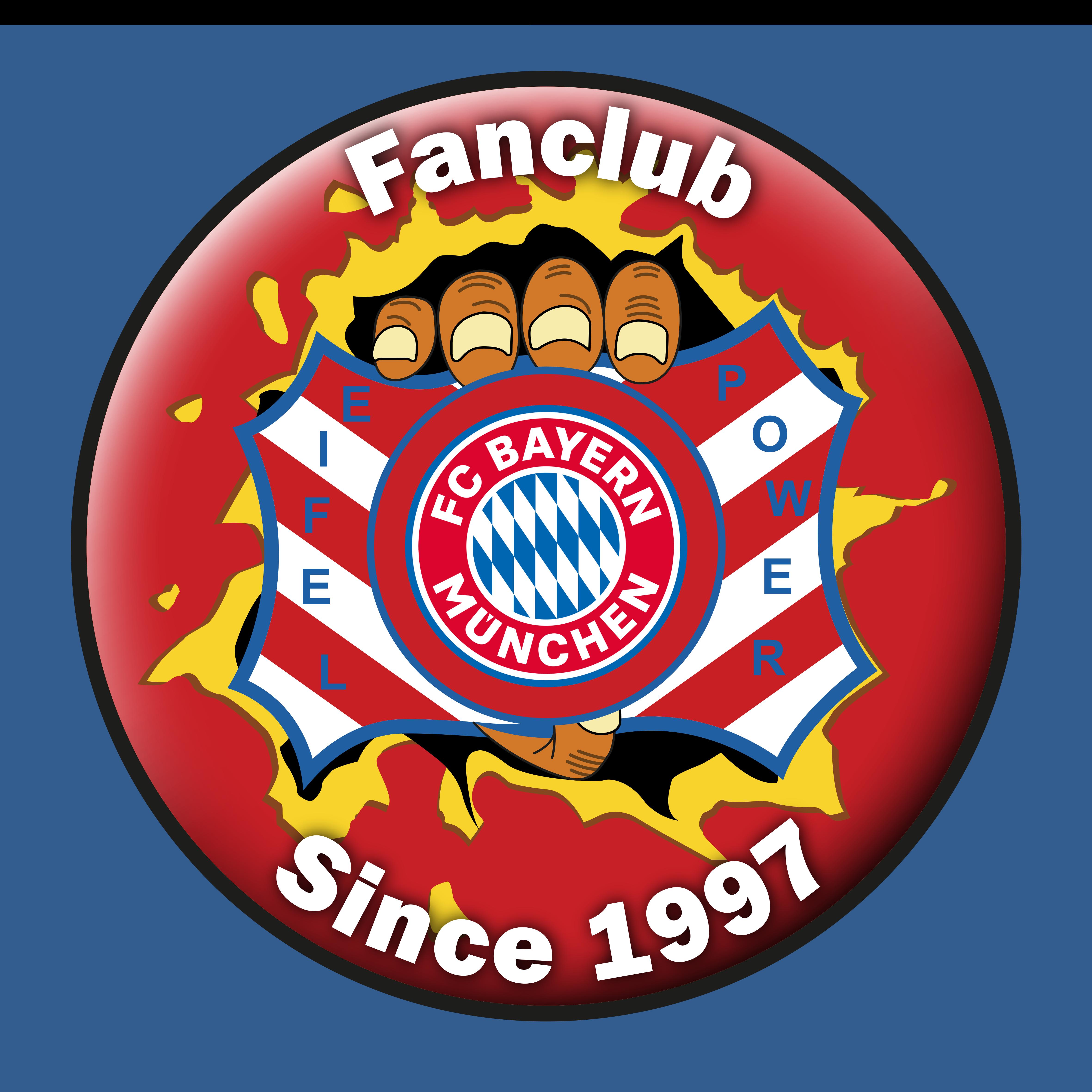 """Logo FC Bayern München Fanclub """"Eifel-Power"""""""