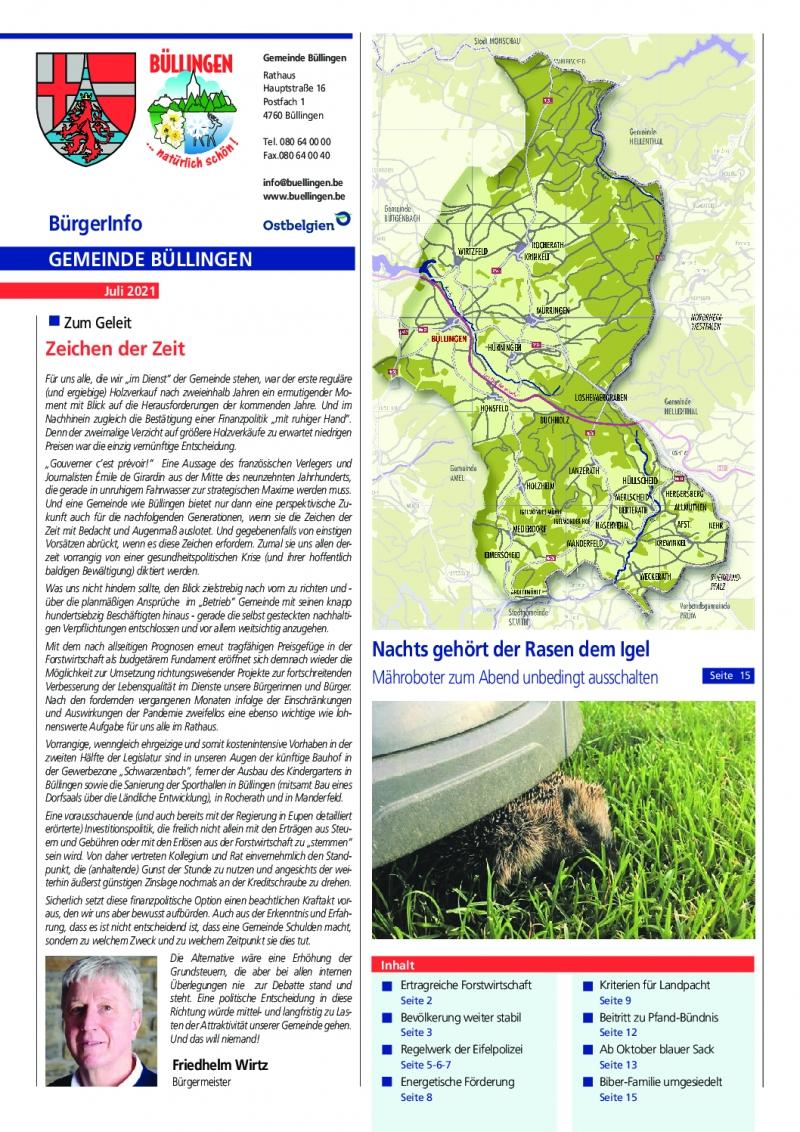 Titelseite Infoblatt 07-2021